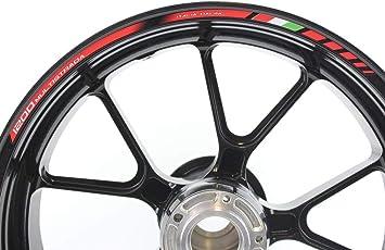 Impressiata Ducati Multistrada 1200 Motorrad Felgenrandaufkleber Specialgp Rot Komplettset Aufkleber Sticker Auto