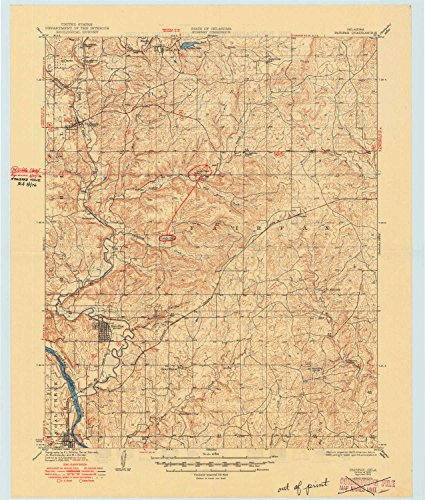 (YellowMaps Fairfax OK topo map, 1:62500 scale, 15 X 15 Minute, Historical, 1932, updated 1949, 21.3 x 18.1 IN - Paper)