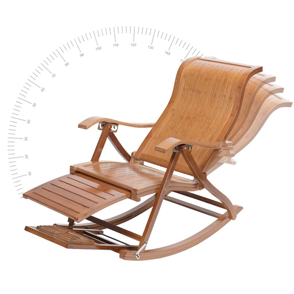 Plegable Lunch Break Lounge Chair Bamboo Recliner Old Man ...