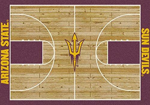 Arizona State College Home Basketball Court Rug: - Rug Arizona Basketball