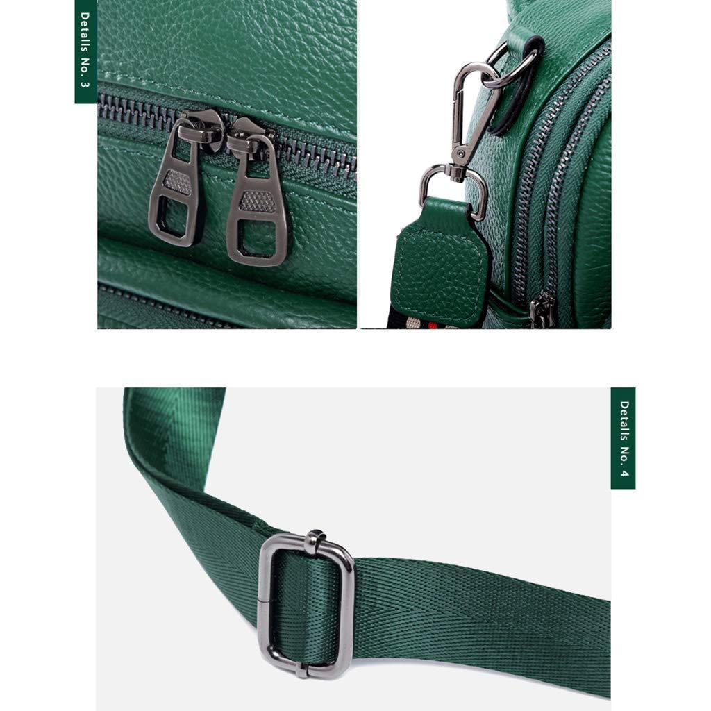Lady ryggsäck mini multifunktionell ryggsäck mode ledig läder dam axelväska shopping vattentät plånbok 18 x 21 x 10 cm GRÖN