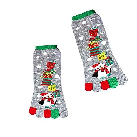 Alextry - Calcetines de Navidad, diseño de Papá Noel con Estampado de muñeco de Nieve