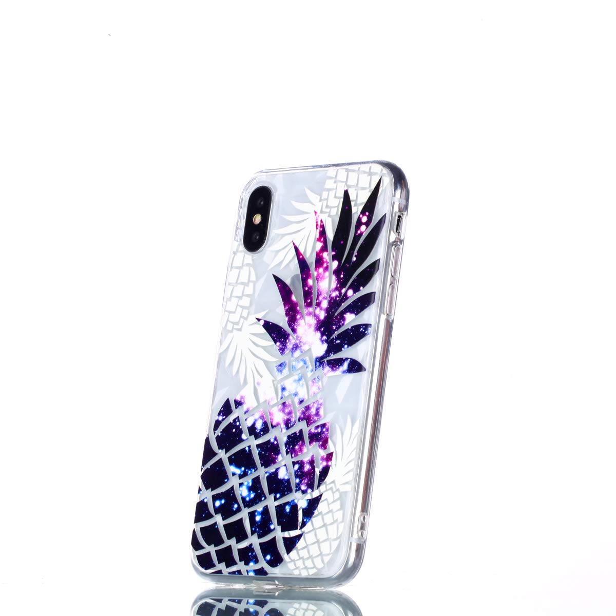Felfy Kompatibel mit iPhone X//XS H/ülle Silikon Transparent mit Mandala Muster Crystal Clear Ultra D/ünn Flexibel Silikon Durchsichtig Case Kratzfeste Protective Handytasche R/ückseite Etui