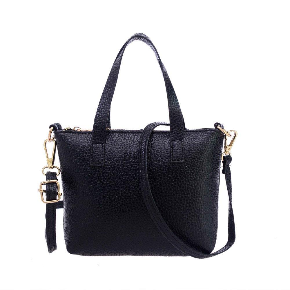 TIANRUN Women Fashion Handbag Shoulder Bag Large Tote Ladies Purse (Black)