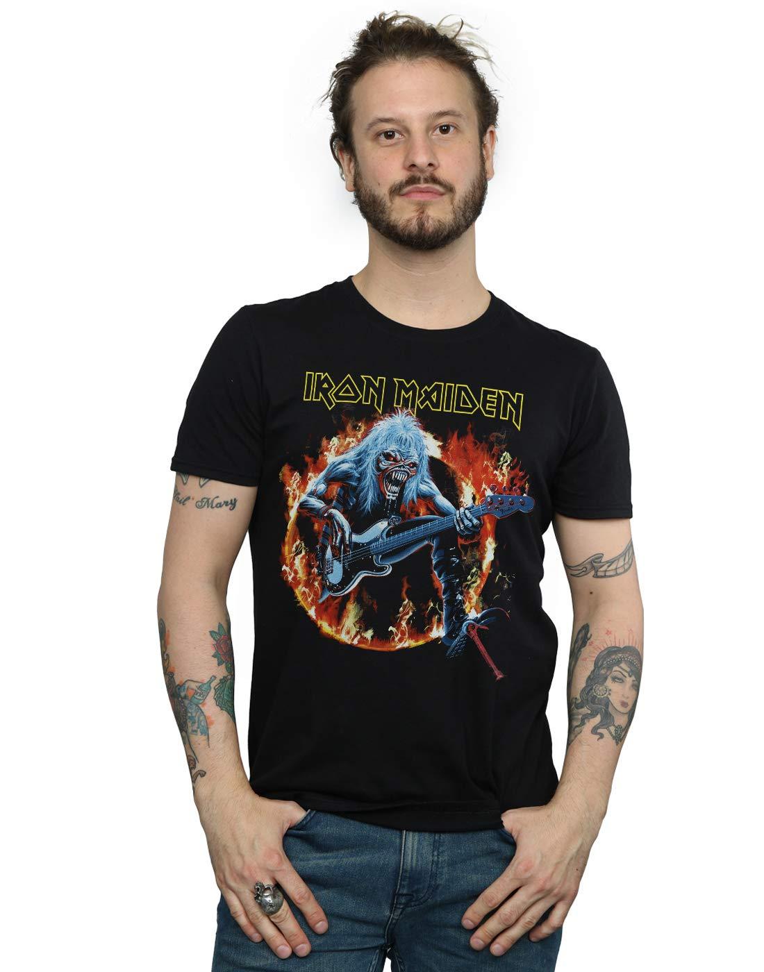 Iron Maiden S R Live Flames Tshirt