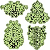 Inkadinkado Stamping Gear Cling Stamps, Mehndi by Inkadinkado