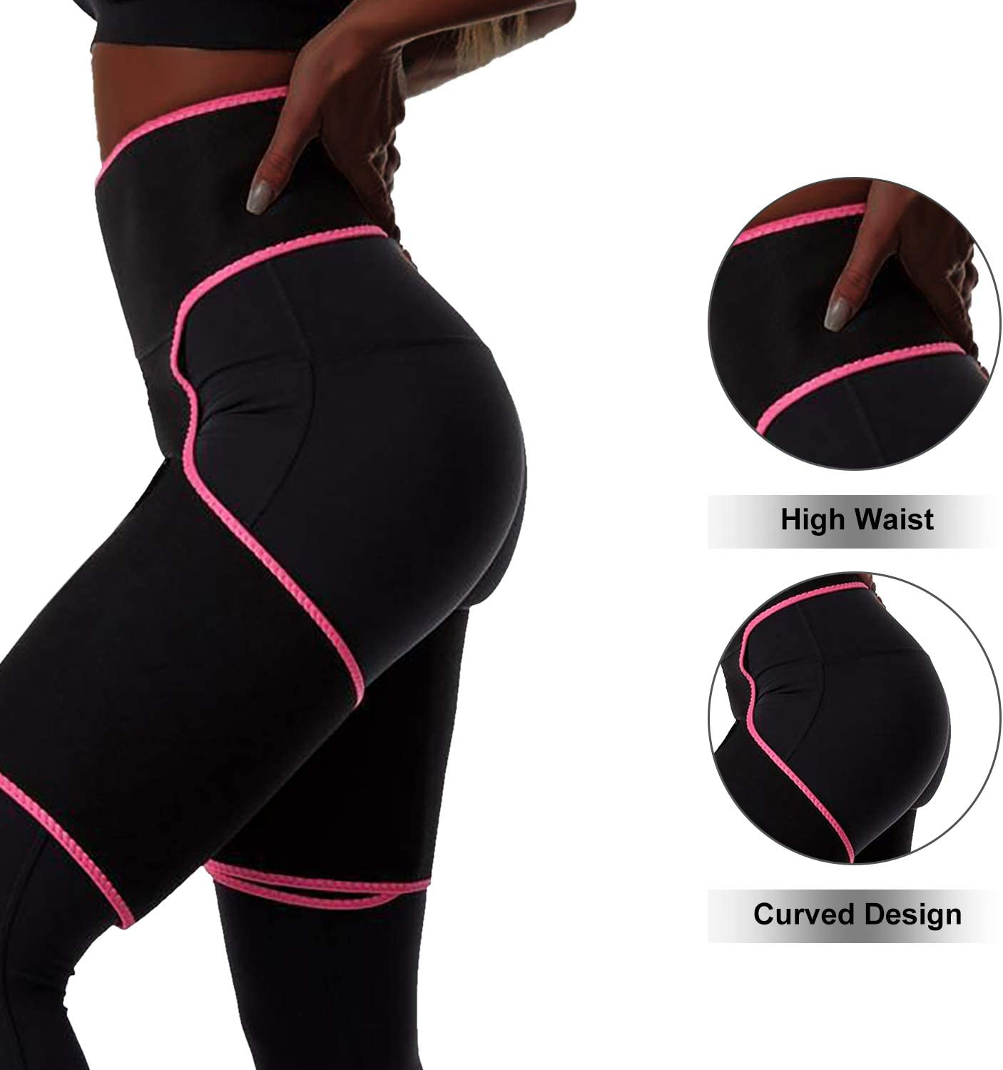 MIAODAM 3-in-1 Waist and Thigh Trainer Adjustable Hip Enhancer Shaper for Women Butt Lifter and Thigh Trimmer