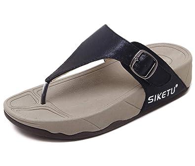 UK Women Girl Summer Wedge Flip Flops Sandals Beach Casual comfy Slippers UK#08