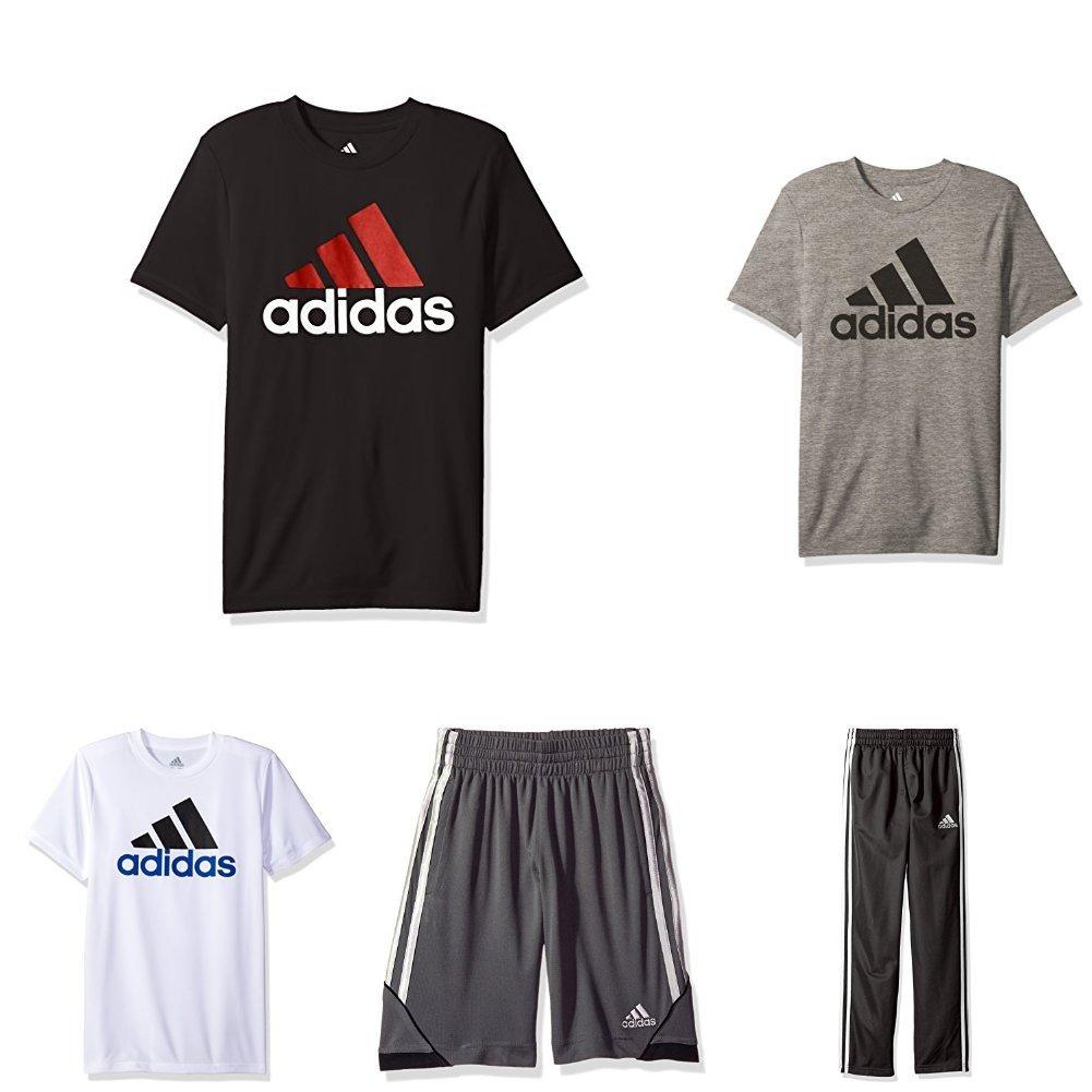 Adidas Big Boys 5-Piece Active Clothing Bundle, Multi Color Bundle, Medium