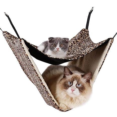 Navigatee Hamaca para Gatos - Colchoneta Cálida, Manta para Camas para Mascotas, Gatos,