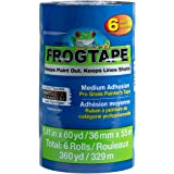 "FROGTAPE 242750 Pro Painter's Tape with PAINTBLOCK, 1. 41"" x 60-Yards, 6-Pack, Blue, 6 Rolls"