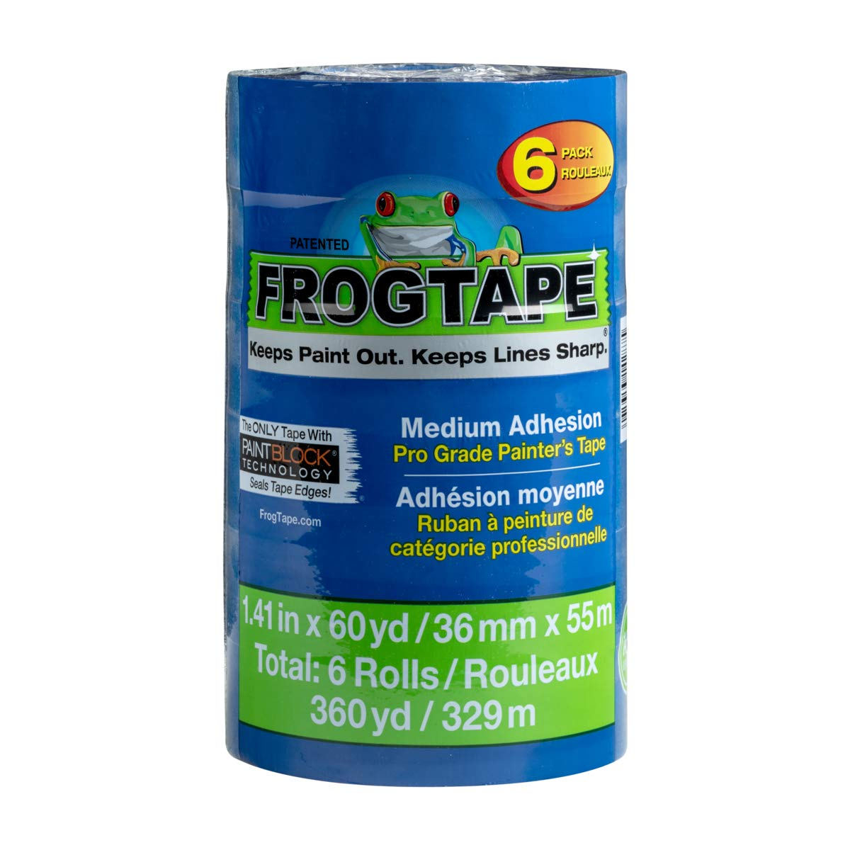 Frog Tape 242750 Blue Pro Painter's Tape, 6 Rolls, by FrogTape