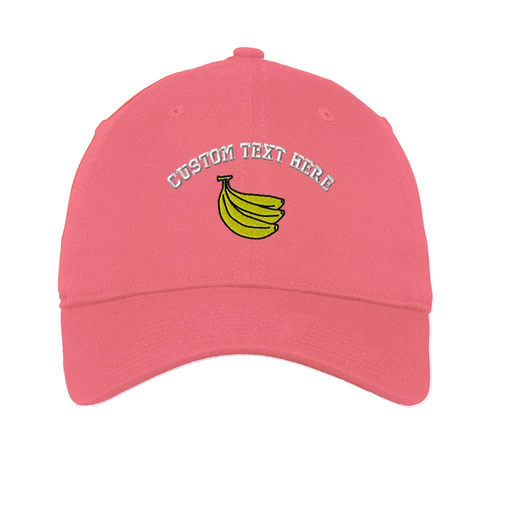 Custom Soft Baseball Cap Bananas Embroidery Cotton Dad Hats for Men /& Women