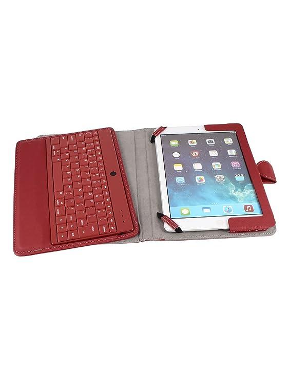 Amazon.com: Teclado Bluetooth Bolsa em couro PU Fique Protector vermelha para o iPad Air 5: Electronics