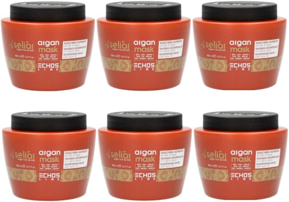 6X Echosline Seliar Argan Mask - Mascarilla nutritiva al aceite de argán - 500 ml