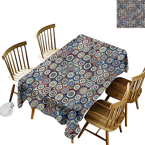 Tablecloth for Kids/Childrens Geometric Ring Formed Circles Party Decorations Table Cover Cloth 60