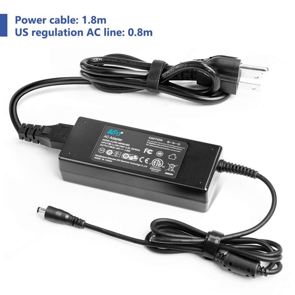 KFD 48V Power Supply Charger for PoE Switch,PoE Injector NETGEAR ProSafe GS108T GS108E GS108UK GS110TP GS116Ev2 Gigabit Ethernet Switch Polycom SoundPoint IP560 VVX 500 600 6 Tips 5.5x2.5//5.5x3.0mm