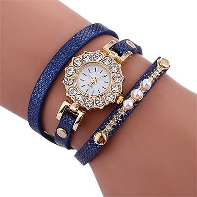 Coconano Reloj Marea Hombre, Elegante Simplicidad de Cristal Pulsera de Cuero Lady Womans Reloj de Pulsera Rd: Amazon.es: Ropa y accesorios