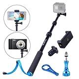 Smatree SmaPole S1-C All-Aluminium-Legierung handgehaltene Teleskopstange für GoPro Hero 5/4/3 + / 3/2/1 / Session / für Kompaktkameras / Handys