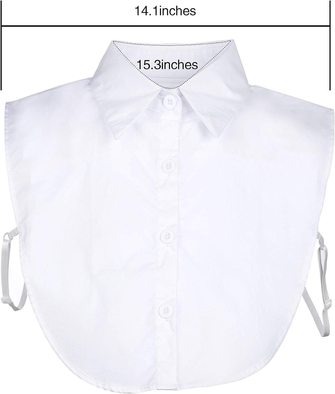 Tatuo 2 Pieces Fake Collar Detachable Blouse Dickey Collar Half Shirts False Collar for Women Favors
