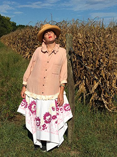 Upcycled Flannel & Vintage Linen Dress by CHIC FLAG