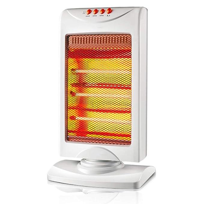 HM&DX Cuarzo Estufa halógena con 3 Ajustes de Calor, Oscilante Portátil Calefactor eléctrico Inicio Oficina Consejo Sobre Cierre de protección 1200w ...