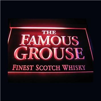 Amazon.com: Cartel con el logotipo del famoso Grouse Neon ...