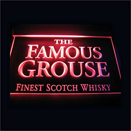 The Famous Grouse LED Caracteres Publicidad Neon Cartel Azul ...