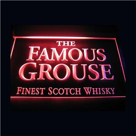 The Famous Grouse LED Caracteres Publicidad Neon Cartel Azul ...