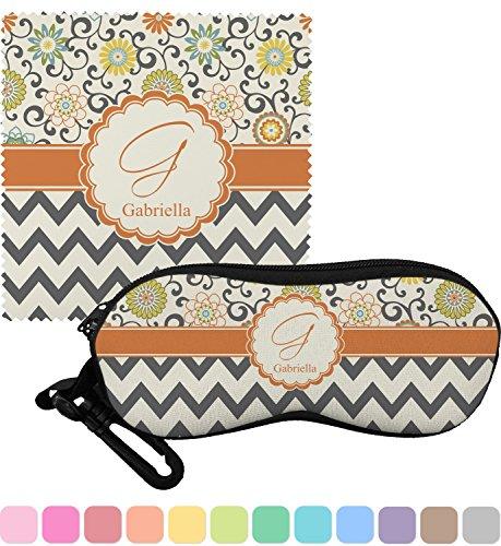 Swirls, Floral & Chevron Eyeglass Case & Cloth (Personalized)
