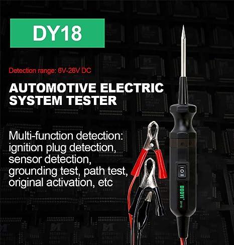 KKmoon EM285 6-24V Kit Sonda Tester per Circuiti Automobilistici Strumento Diagnostico del Sistema Elettrico Circuito di CC per Auto