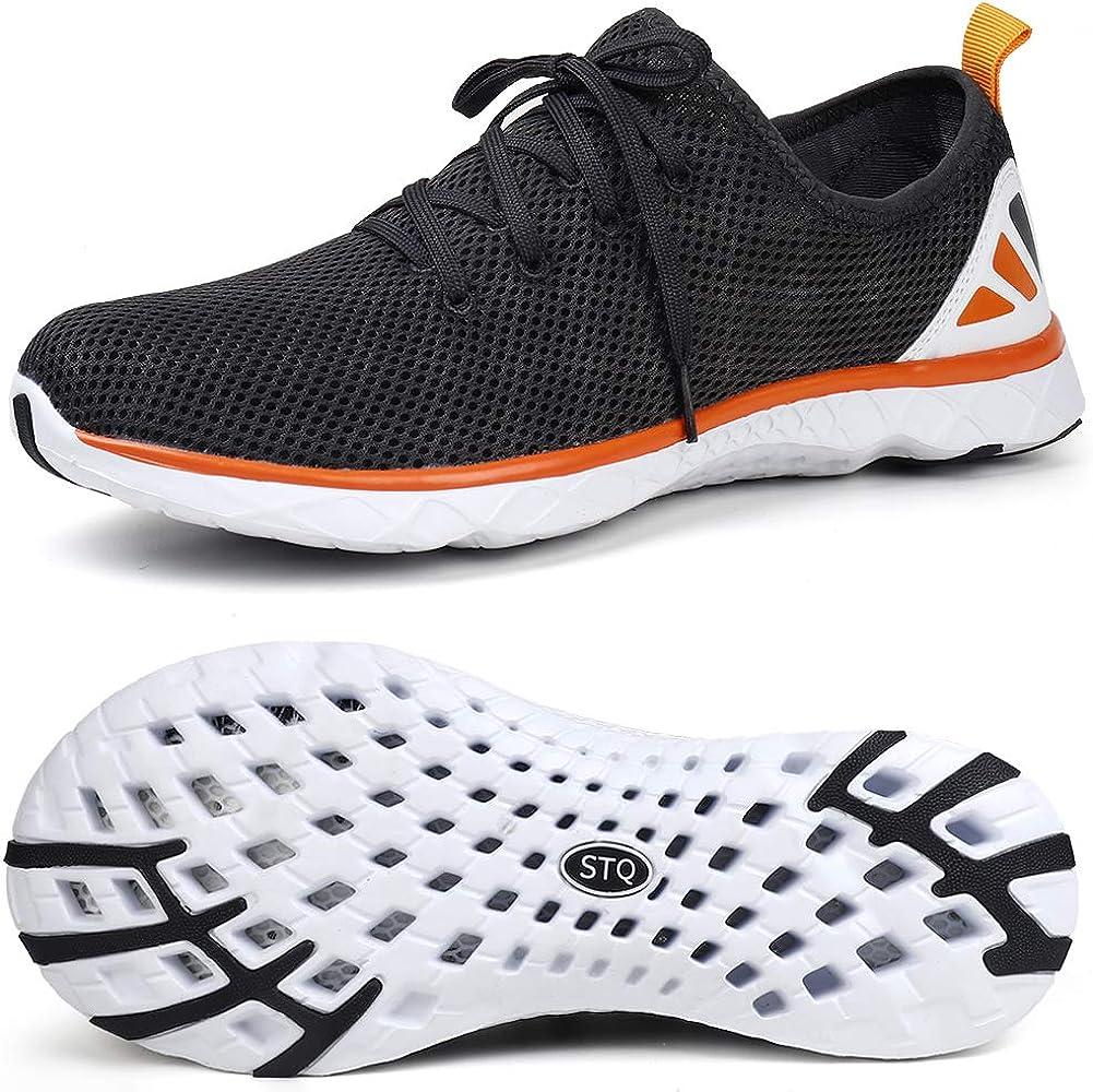 STQ Chaussures /à Eau pour Homme S/échage Rapide l/éger