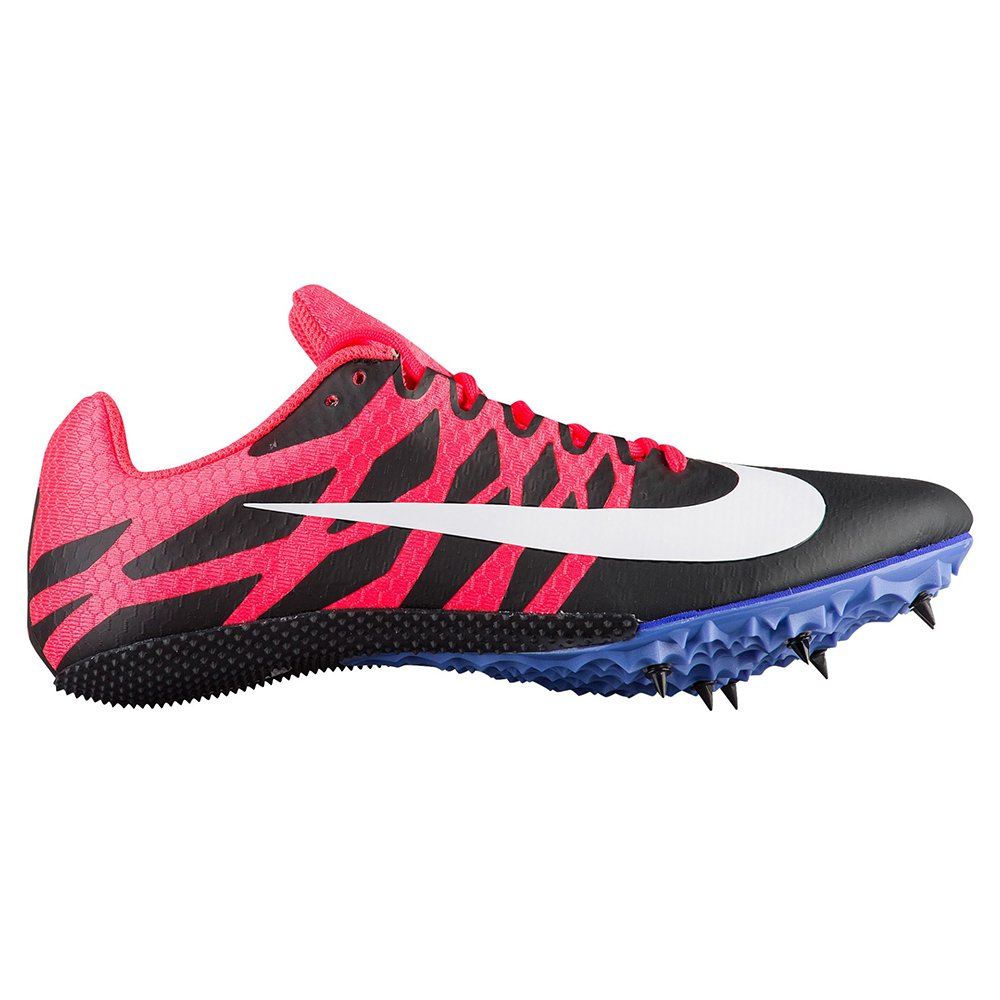 Nike Women's Zoom Rival S 9 Track Spike Black/White/Solar Red/Persian Violet Size