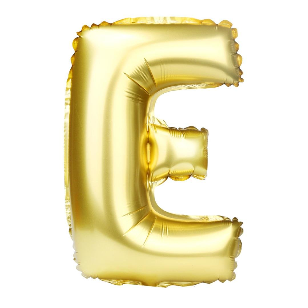 Voberry New 40 inch A to Z Letter Foil Balloons Party Ballon Gold Color (E, Gold)