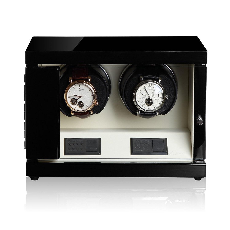 Luxwinder Uhrenbeweger Flint LV2 fÜr 2 Uhren by Modalo 6202122 schwarz beige