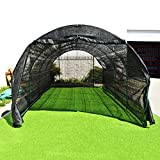 Cheap BenefitUSA Large Green House Walk In Garden Greenhouse Outdoor Canopy Gazebo Plant House (20'X10'X7′, Black)