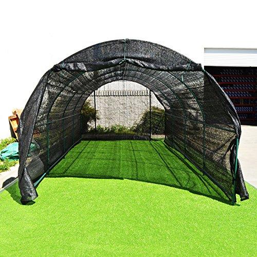 BenefitUSA Large Green House Walk In Garden Greenhouse Outdoor Canopy Gazebo Plant House (20'X10'X7′, Black)