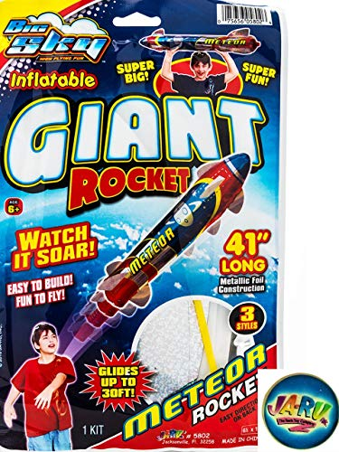 Giant Rocket Glider 41 Inches Long (1 Unit) with a Collectable Bouncy Ball by JA-RU| Item #5802-1 -