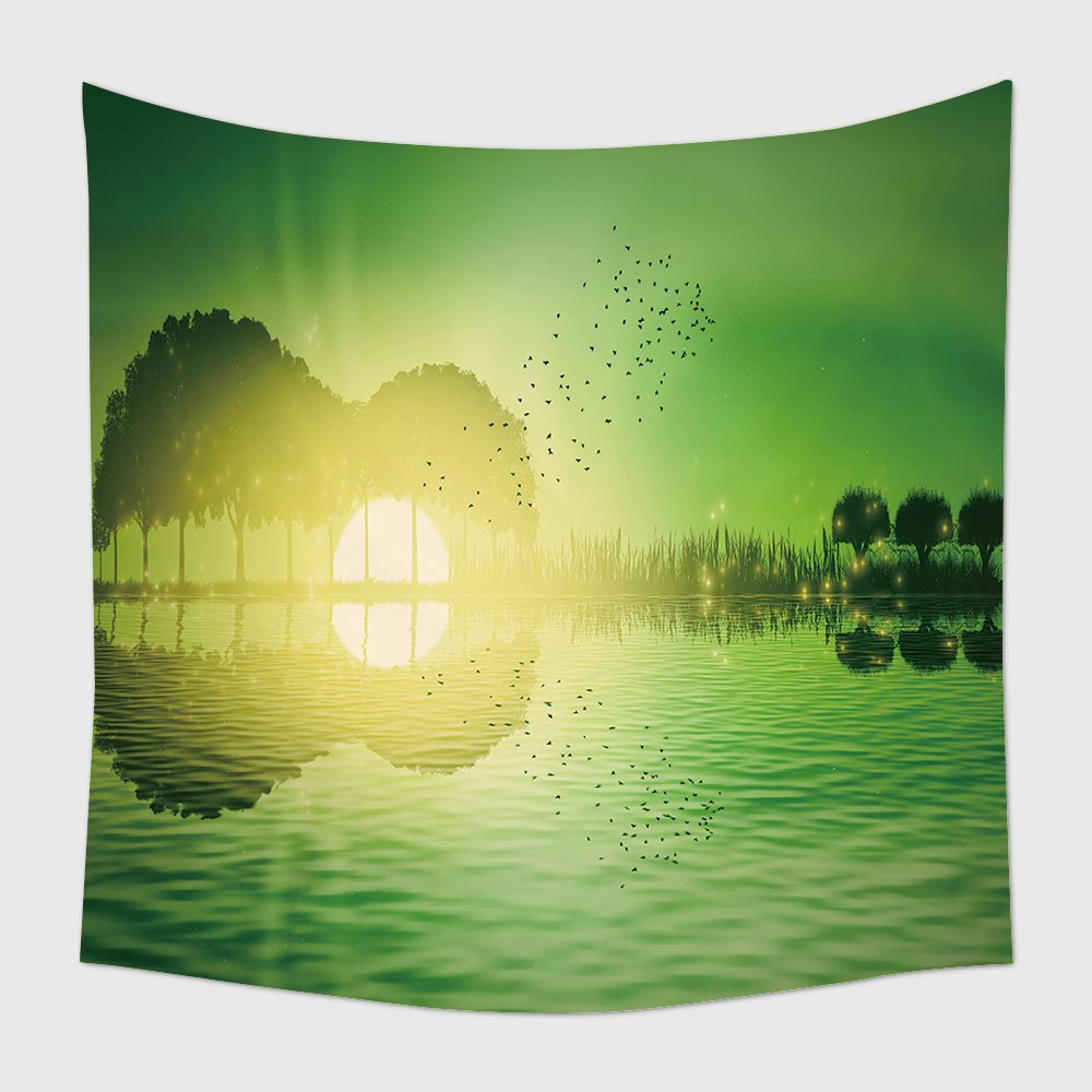 Amazon.com: Home Decor Tapestry Wall Hanging Trees And Grass ...
