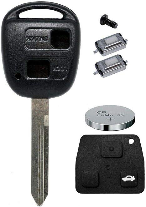 Auto Schlüssel Funk Fernbedienung 1x Gehäuse 2 Tasten Elektronik