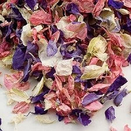 Biodegradable Delphinium Wedding Confetti Naturally Dried Real ...
