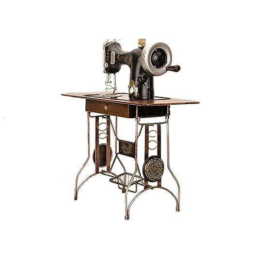 Luban Artesanías Vintage nostálgico Creativo máquina de Coser decoración decoración de Escritorio artesanía Adecuado para Restaurante/Bar/café: Amazon.es: ...