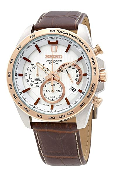 Seiko Analog White Dial Men's Watch-SSB306P1 Men at amazon