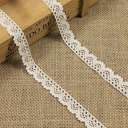 10 Meter Vintage Spitzenband Beige Spitzenborte H/äkel-Borte Spitze N/ähen Spitzenbord/üre Geschenkbox Deko