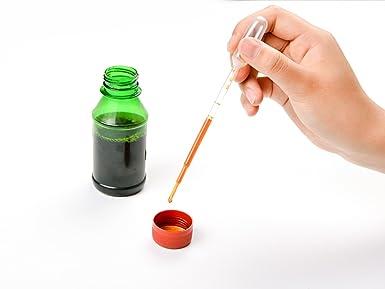 LABOTA 100 piezas 3ML Pipetas Plastico Desechables Graduado para Transferir Aceites Esenciales Mezcla de Perfume Pinturas Acrílicas y Laboratorio: ...