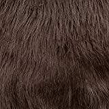 Faux Fake Fur Solid Bonded Shag Brown 60 Inch Fabric by the Yard (F.E.®)