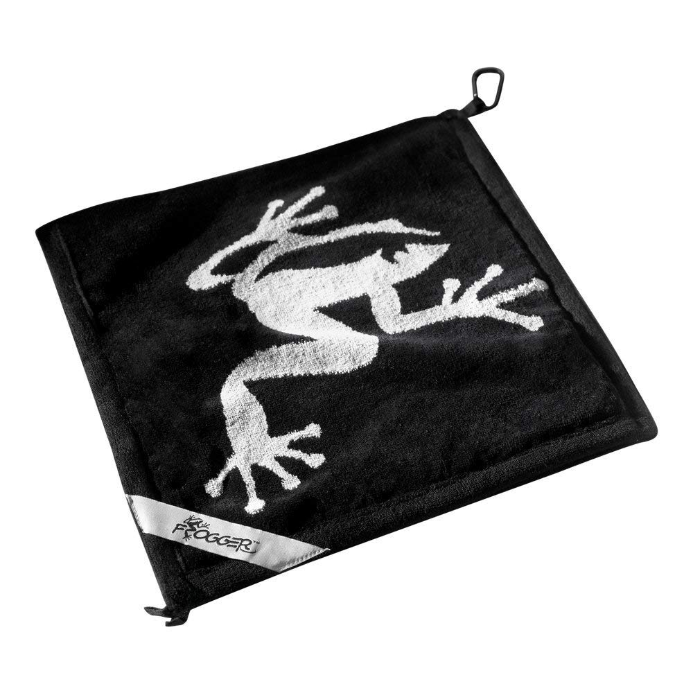 Frogger Golf Amphibian Wet/Dry Golf Towel, Black/Grey by Frogger