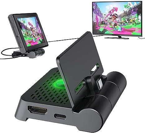 OIVO HDMI TV Dock Adaptador para Nintendo Switch, Base de Carga Portátil Plegable para Nintendo Switch: Amazon.es: Electrónica
