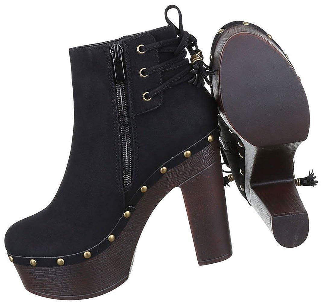 Damen Stiefel Stiefel Stiefel Schuhe High Heels Plateau Stiefeletten Schwarz Beige Braun 36 37 38 39 40 41 f4a0d0