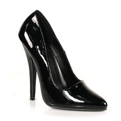 6 Inch Sexy High Heel Black Shoe Classic Pump Size  5